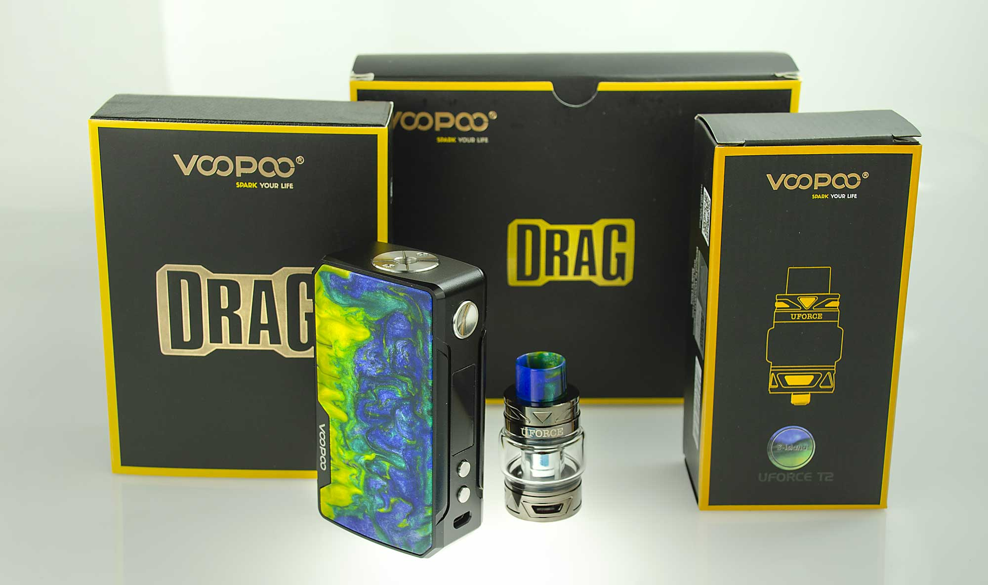 Voopoo Drag 2 177W Kit with Uforce T2 Tank: VapeLoft MD in Edgewater