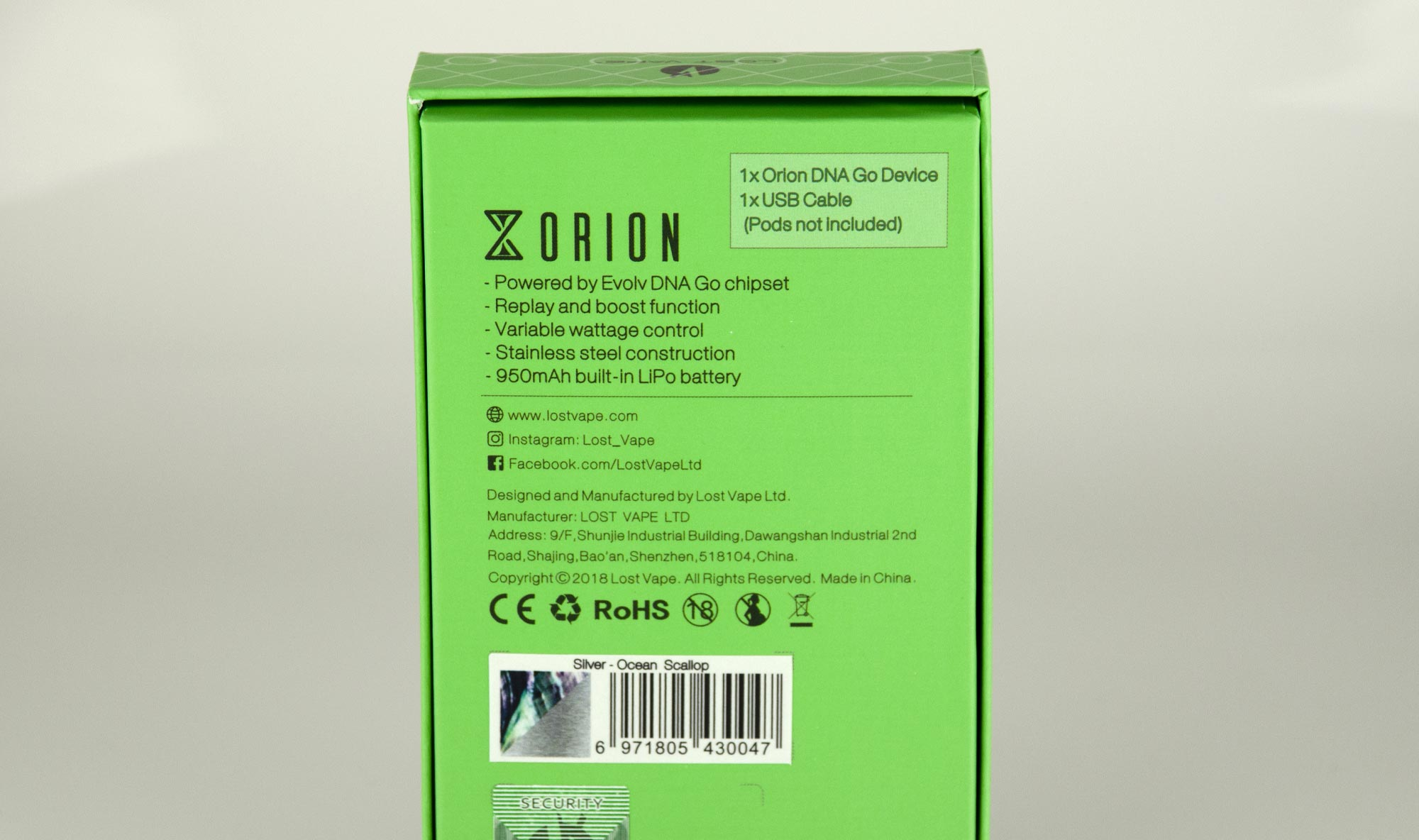 Lost Vape Orion DNA Pod System: VapeLoft MD in Edgewater